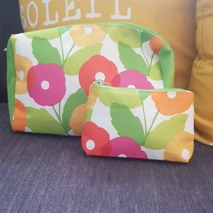 Vibrant Clinique cosmetic bags(2pcs)